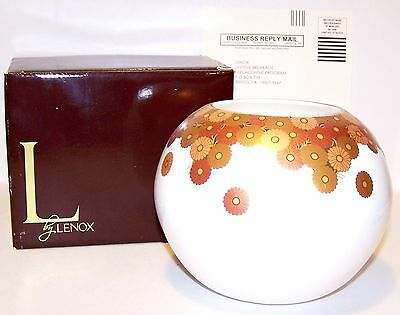 NEW Lenox GILDED TAPERTRY Rose Bowl with Gold Accents In Original Box # 818073