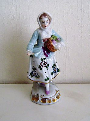 Antique Porcelain Sitzendorf Figurine 19th Century Continental Mark Base Selling