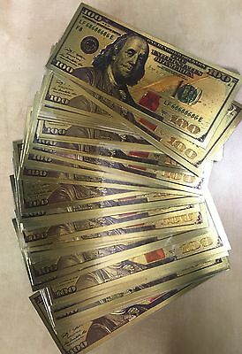 """1000 Pieces  Wholesale """"New Style"""" .999 24kt Gold $100 Banknote"""