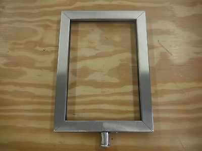 Winco Stanchion Top Sign Frame Stainless Steel (F44)