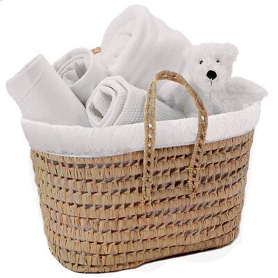 New Clair Lune My Toys White Polly Nursery Basket Blankets Accessories