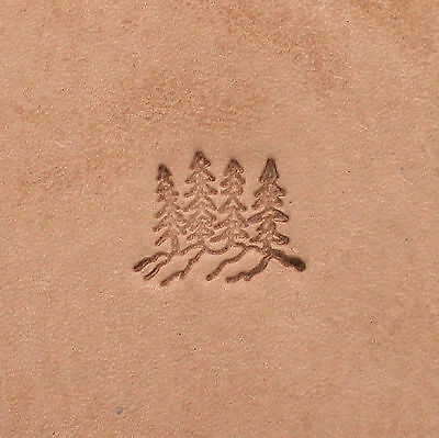 Mountain Top  And Pine Trees Leather Craft Stamp F110