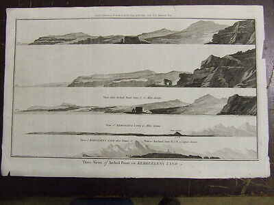 Kerguelen's Land. (Island of Desolation) Indian Ocean. Navigational Views 1780's