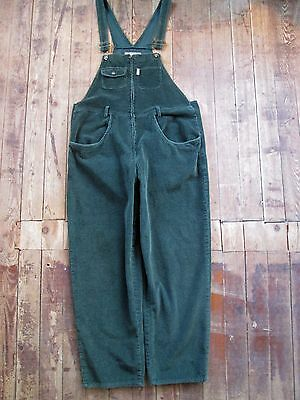 VTG EXPRESS EXP Overalls Bibs Coveralls Large 100% Cotton Green Buckle 40x28 EUC