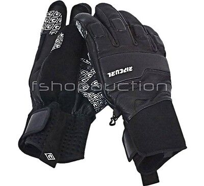 Rip Curl Lazor Gloves Black Size M Mens Waterproof Pro Ski Mountain Snow Board