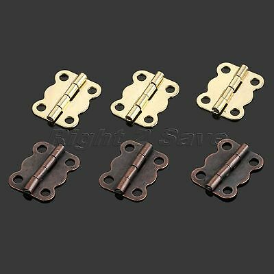 10/30/50/100pcs Hinges Wooden Gift Wine Box Small Hinge 16x13mm with Screws DIY