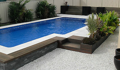 8 x 4.4 FIBERGLASS  SWIMMING POOL KIT  COMPLETE & SAVE OVER $3,000