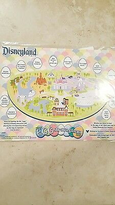 NEW 2017 Disney Parks Disneyland Eggstravaganza Easter Egg Map & Stickers ONLY