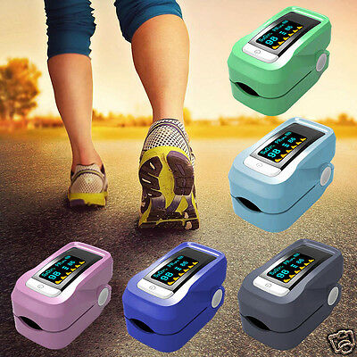 Fingertip Pulse Oximeter SpO2 Blood Oxygen Saturation Oxi Meter Health Alarm New