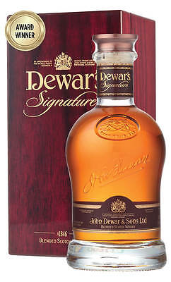 Dewar's Signature Blended Scotch Whisky 750ml  (Boxed)
