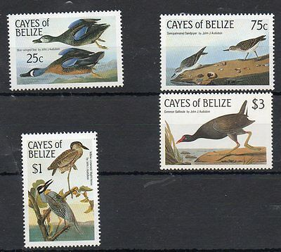 Cayes Of Belize 1985 Audubon Bird Stamps - Mint Never Hinged