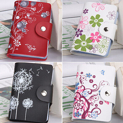 New Womens Ladies Soft For Credit Card Holder ID Wallet Purse 26 Card Slots UK