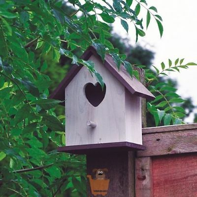 White Bird House wooden Hotel Home Nesting Box Garden Feeding Station Box