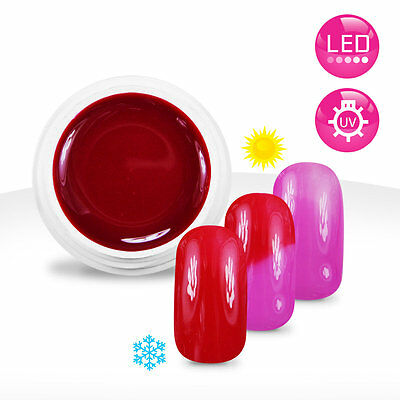 Gel UV / LED Couleur Thermo Framboise / Rose - 5ml Manucure Ongles Nail Art