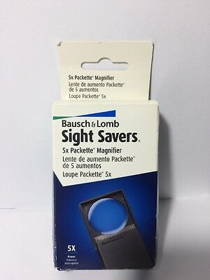 Bausch & Lomb Sight Savers 5x Packette Magnifier Loupe Magnifying Glass