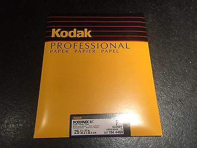Kodak Polymax RC Professional Photo Paper Glossy 8x10 25 Count ~NEW!~