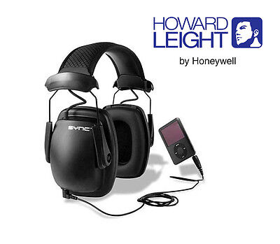 SYNC Stereo Earmuffs  * Howard Leight * Audio Input for MP3 * SLC80 31dB Class 5