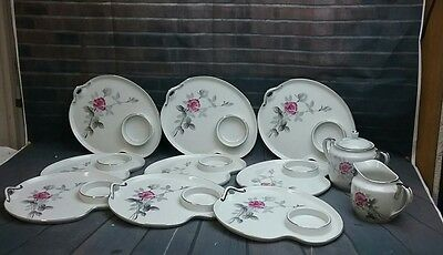 L. China  Handpainted  Rosebud Luncheon Set made in Japan