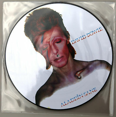 "DAVID BOWIE ‎Aladdin Sane 12"" VINYL LP PICTURE DISC Black Rose France BR3 @NEW@"
