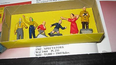 Corgi 1502  Original 1962-69  Rare Figures In Age Worn Good Original Box.