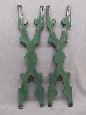 Pair Antique Architectural Gingerbread Flat Balusters Vintage Old 331-17R