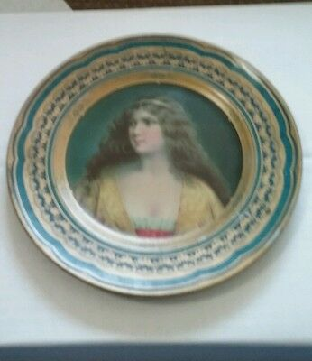 TIN LITHOGRAPH ADVERTISING Plate / tray Frank saiter  Marion ohio