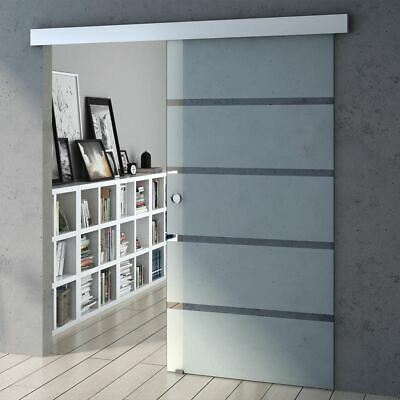 Safety Glass Sliding Door Internal Partition Bedroom Frosted Sections Durovin