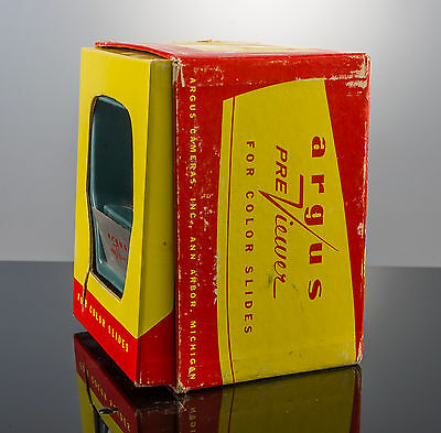 Vintage ARGUS PREVIEWER For Color Slides in Original Box