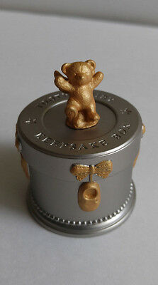 Silver and Gold Toned Heavy Metal Russ Tooth Fairy Keepsake Box