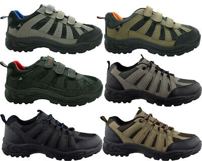 New Men`s Hiking Boots Walking Ankle Hi Tops Trail Trekking Trainers Shoes Size