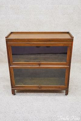 Original Barrister Bookcase Display Cabinet Curio Book Shelf Case Antique Walnut