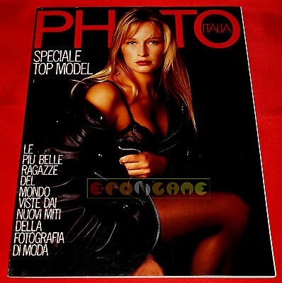PHOTO ITALIA N. 179 1990 Speciale Top Model Monica Bellucci, Claudia Schiffer