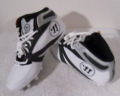 NEW Warrior 2nd Degree 3.0 Mens Lacrosse Cleats 11 White/Black MSRP$85