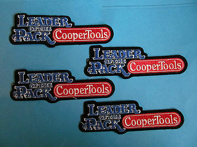 4 Lot Vintage Cooper Tools Leader Of The Pack Uniform Work Shirt Patches Crests
