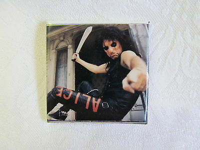 Vintage 80's ALICE COOPER Rock Music Heavy Metal Pin Button