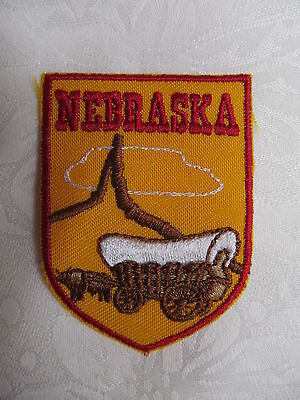 Vintage Voyager Travel Patch Crest NEBRASKA