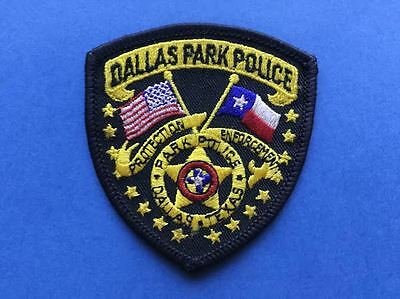 Rare Collectable Dallas Park Police Iron On Uniform Shoulder Patch Crest