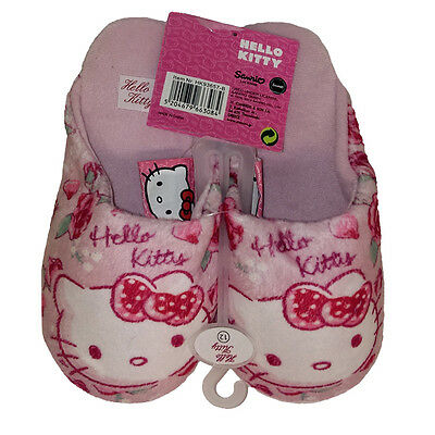 NEW Official Hello Kitty Pink Girls Slippers Nightwear child sizes 8 - 13