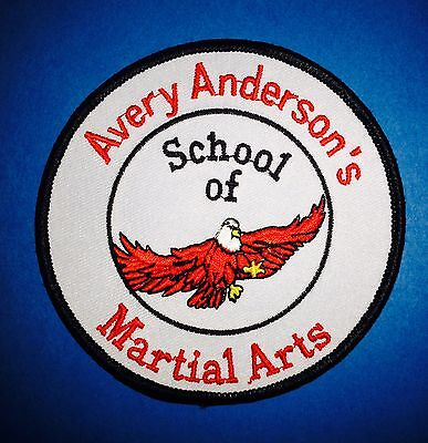 Vintage 1980's Avery Anderson's School Of  Martial Arts Gi Patch Crest MMA 245