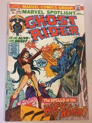 Marvel Spotlight Ghost Rider #11 Witch Woman // Marvel 1973 // Good *