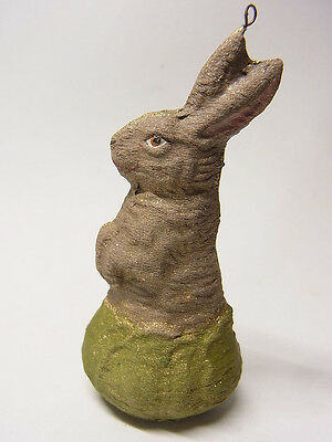 Ostern Osterhase Easter Pappfigur Hase Bunny Rabbit Ei Dresdner Pappe Figur 4a