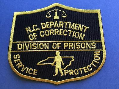 Rare Obsolete North Carolina Department of Corrections Collectable Patch Crest A