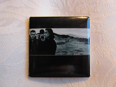 Vintage 80's U2 Bono Edge Rock Music Heavy Metal Hat Jacket Lapel Pin C