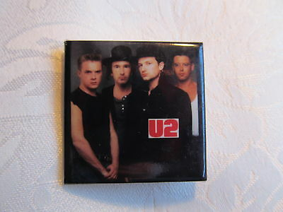 Vintage 80's U2 Bono Edge Rock Music Heavy Metal Hat Jacket Lapel Pin B