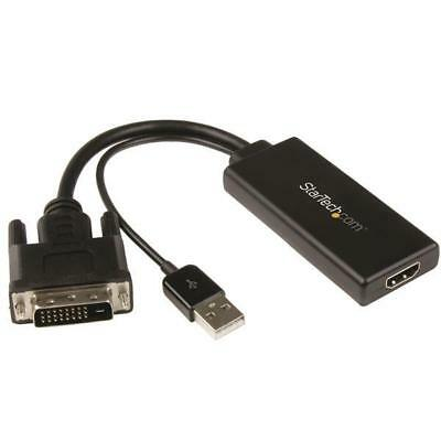 Startech Dvi To Hdmi Video Adapter With Usb Power And Audio - 1080P
