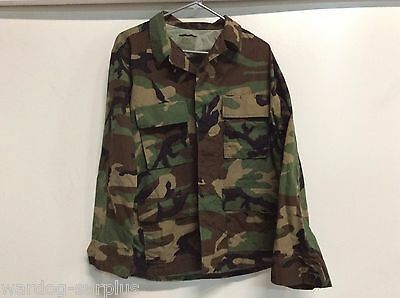 New Usgi Us Military Woodland Bdu Top Coat Jacket Warm Weather Size Small X-Long