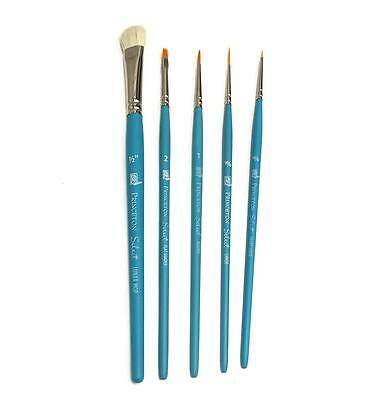 Five Brush Set for Painting with Genesis Paints - Reborn Doll Supplies 2667