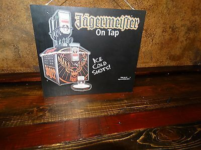 17983 JAGERMEISTER  oem BAR SIGN ~ ICE COLD SHOTS Double Sided Man Cave Decor
