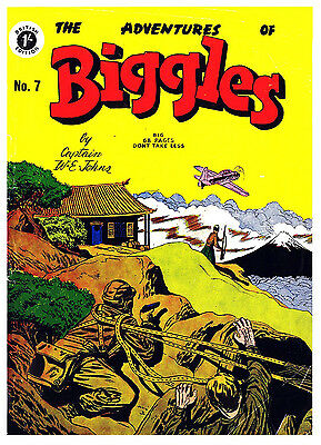 ADVENTURES OF BIGGLES No.7 -  VERY RARE EARLY 68 PAGE 1/-  COMIC Facsimile