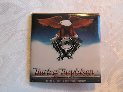 Vintage 80's HARLEY DAVIDSON Motorcycle Rock Music Heavy Metal Lapel Pin A